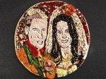 Принц и его невеста – портрет на пицце