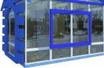 Дом из стекла для рекламы в Кривом Рогу