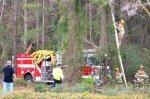 Голый американец угнал пожарную машину, устроил аварию