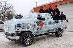 В Канаде построили ледяной автомобиль