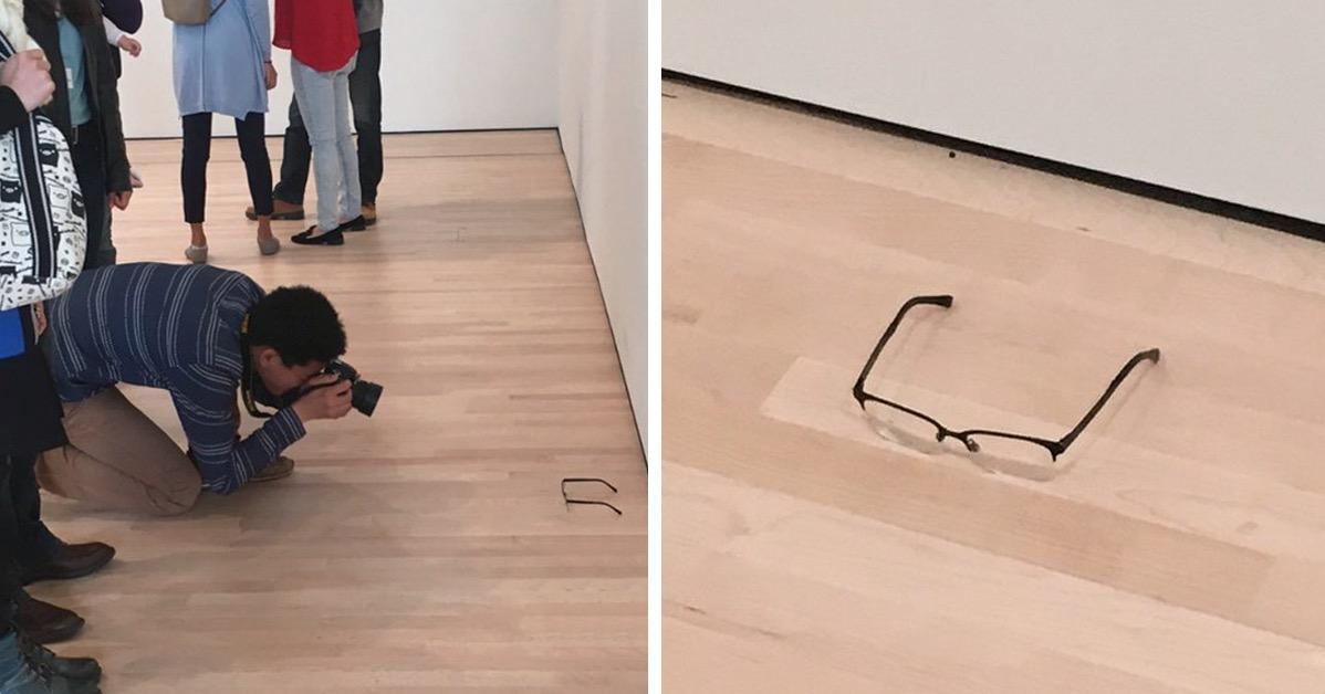 Подросток заставил посетителей музея принять очки за искусство